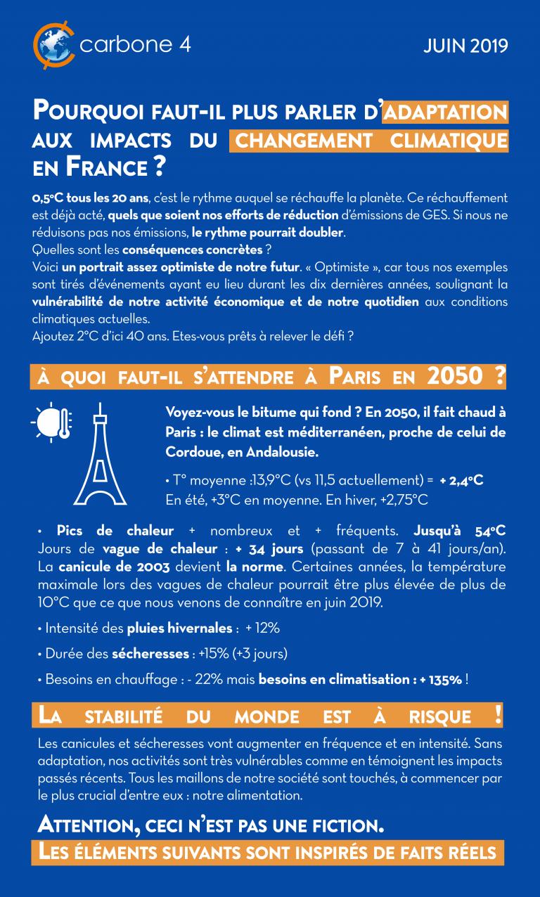 Impact du changement climatique en France
